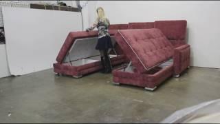 Угловой диван поворотный трансформер 3 в 1  Оскар П . unique sofa bed