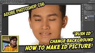 BASIC PHOTOSHOP TUTORIAL - ID PICTURE (2x2, 1x1, Etc.) Change Background (Tagalog) | Karl Sabaot