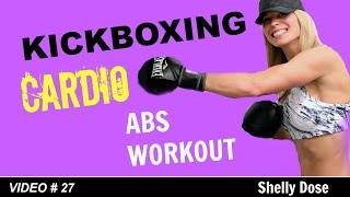 Cardio Kickboxing Workout | 20 Minute workout | Cardio Kickboxing ABS workout by Shelly Dose Fitness