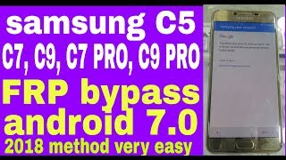 Samsung Galaxy C5 | SM-C5000 | Google Account 7 0 Bypass