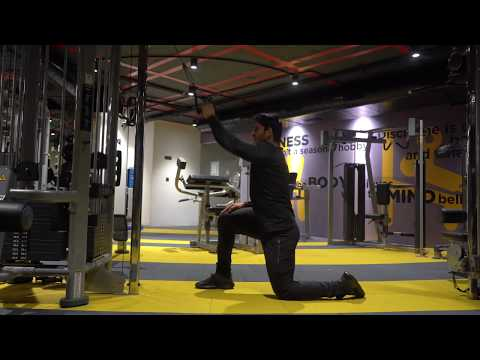 Cable Twisting High Arm Row