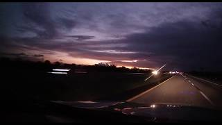 Extended Sunset (Driving East to West)