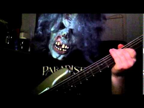 Recording bass guitar for our cover of 'Ritual' by Ghost...