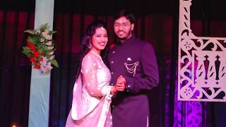 Sangeet Couple Dance Performance | Bride Groom Indian Wedding Dance (Tere Bin Nahi Lagda | Simmba)