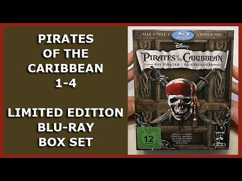 PIRATES OF THE CARIBBEAN 1-4 - LIMITED BLU-RAY BOX SET UNBOXING - FLUCH DER KARIBIK