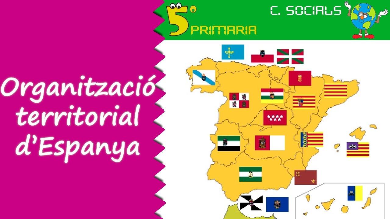 Organització territorial Espanya. Socials, 5é Primària. Tema 4