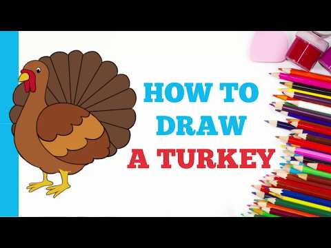 How to Draw a Turkey in a Few Easy Steps: Drawing Tutorial for Kids and Beginners