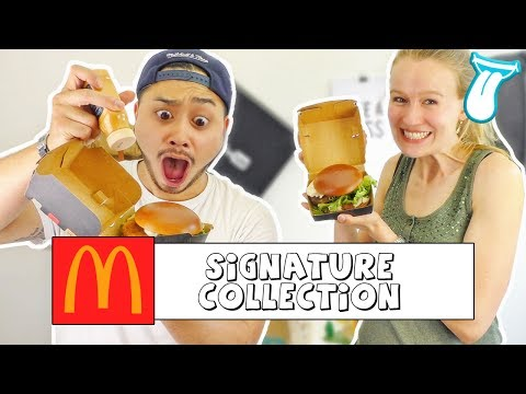 [REUPLOAD] | Mcdonald's Signature Collection TASTE TEST deutsch | IN ALLER MUNDE