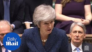 May jokes about having 'many meetings' on day of confidence vote | Kholo.pk