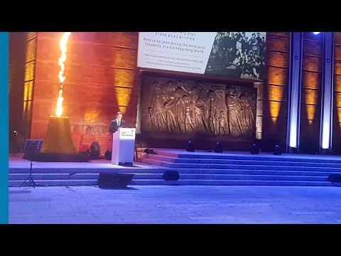 שידור של עצרת הפתיחה הממלכתית לציון יום הזיכרון לשואה ולגבורה תש