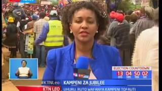 Rais Uhuru Kenyatta awarai wakaazi wa bonde la ufa katika kampeini za Jubilee