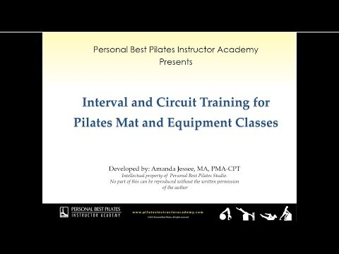 Preview of Pilates Interval and Circuit Training