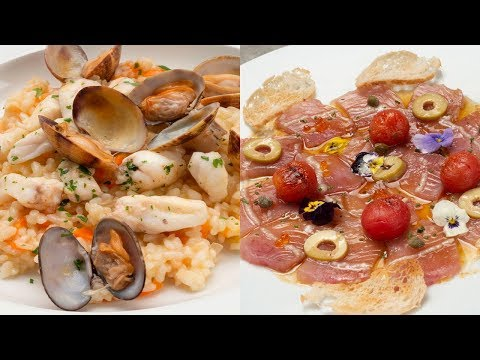 Arroz con rape y almejas - Carpaccio de bonito - Cocina Abierta de Karlos Arguiñano