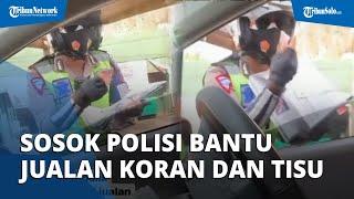 Ini Sosok Bripka Arief Setiawan, Polisi yang Bantu Jajakan Dagangan Penjual Koran & Tisu yang Sakit