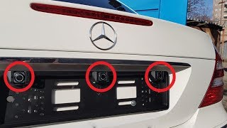 Installing  License Plate Parking sensors / Parktronic installation without bumper drilling