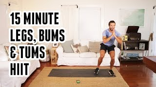15 Minute Legs, Bums & Tums HIIT Workout | The Body Coach by The Body Coach TV