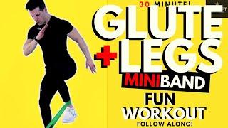 30 Min Mini Band Glute Workout   Resistance Band Glute Workout   Leg Resistance Band Workout   HIIT