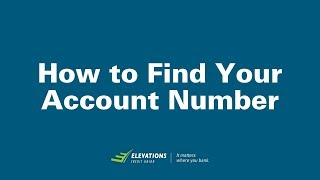How to Find Your Account Number