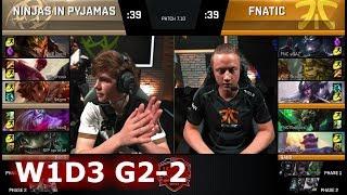 Fnatic vs Ninjas in Pyjamas | Game 2 S7 EU LCS Summer 2017 Week 1 Day 2 | FNC vs NIP G2 W1D2