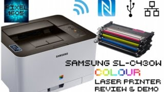 WIRELESS Samsung C430W COLOUR Laser Printer. Unboxing, Full setup and Demo