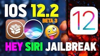 iOS 12 Jailbreak Update: iOS 12.2 b3 & 'Hey Siri, Install Cydia' 😱 😍