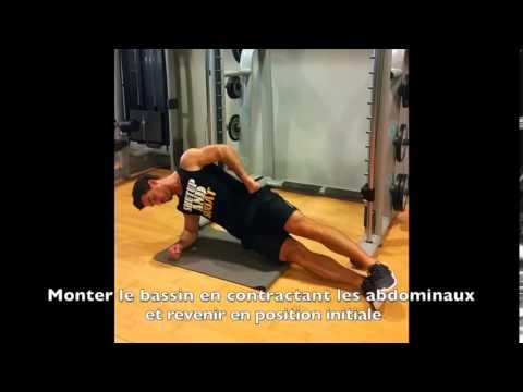 Le home-trainer sportif sur les groupes des muscles