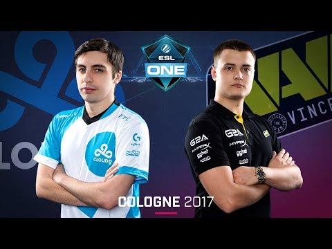 CS:GO - Cloud9 vs. Na'Vi [Overpass] Map 2 - Semifinal - ESL One Cologne 2017