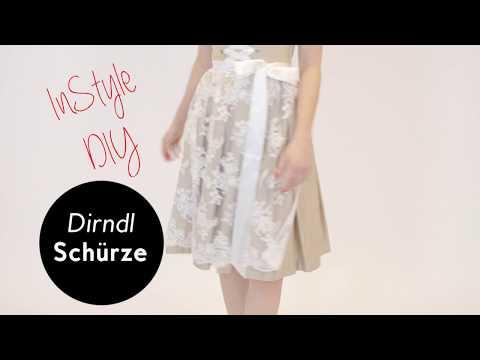 DIY Tutorial: Dirndl Schürze selber nähen