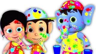Holi Me Mach Gaya Dhamaal | Hindi Nursery Rhymes | Kids Holi Song | Holi Festival | Kids Tv India