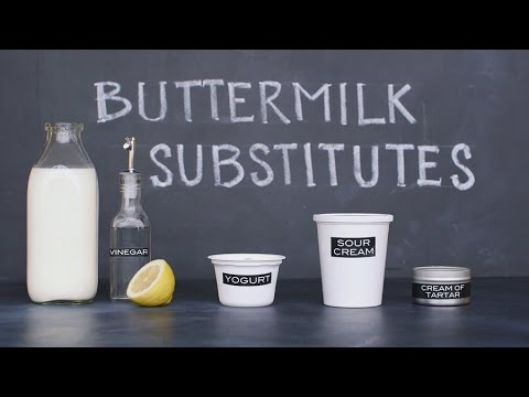 "Video 4 Simple ""Homemade"" Buttermilk Substitutions"