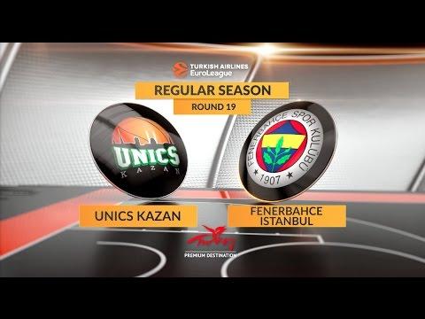 EuroLeague Highlights RS Round 19: Unics Kazan 81-86 Fenerbahce Istanbul