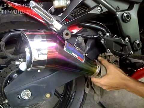 ninja carbu 250 leovince cobra rainbow