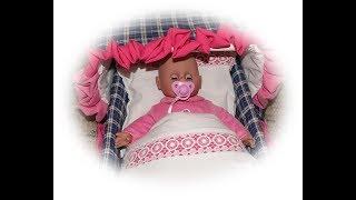 Bettwäsche, Kopfkissen + Zudecke für Puppenbett nähen für Kinder
