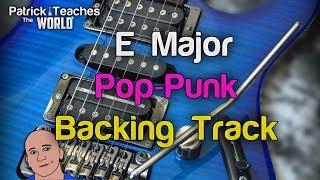 E Major Pop-Punk/Rock Backing Track-Jam-Guitar