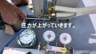 エアコン取り付け後の真空引きとゲージ圧