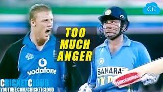 Sachin Sehwag vs England | Flintoff Super Angry !!