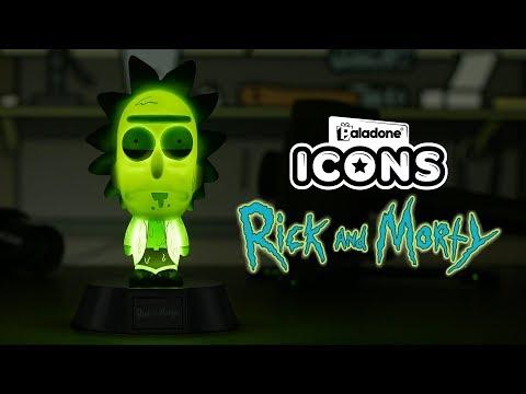 Mini Lampka Rick & Morty 3D - Rick