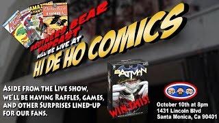 Promo for Brothers Bear Podcast LIVE show at Hi De Ho Comics