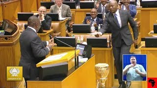 Questions to the President in South Africa Parliament  MY AFRICA welcomes all comments that are constructive, contribute to discussions in a meaningful manner and take stories forward. However, we will NOT condone the following: - Racism (including offensive comments based on ethnicity and nationality) - Sexism - Homophobia - Religious intolerance - Cyber bullying - Hate speech - Derogatory language - Comments inciting violence. We strive to make the YouTube (MY AFRICA) community a safe and welcoming space for all.