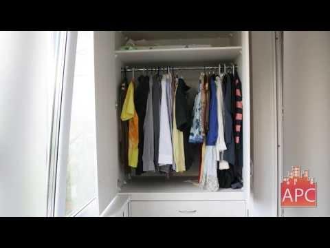 Встроенные шкафы для 4м лоджии