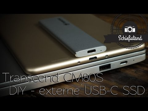 DIY - Ultra schnelle externe USB-C SSD für Foto & Video – Transcend CM80S + Crucial MX300 M.2