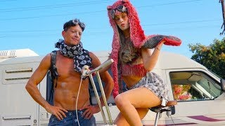 Burning Man Couple | Hannah Stocking, Marlon Wayans & Simon Rex