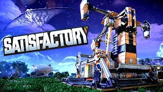 BUILD A FACTORY & SURVIVE THE MONSTERS! - Factory Automation & Mining! - Satisfactory Gameplay