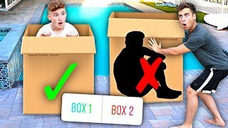DON'T Push The Wrong MYSTERY BOX Into The Pool..   Challenge