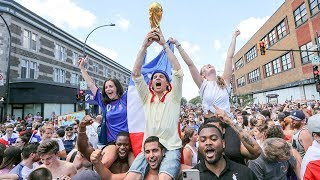French football fans celebrate in Montreal | Kholo.pk