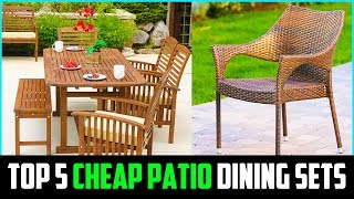 TOP 5 BEST CHEAP PATIO DINING SETS 2019