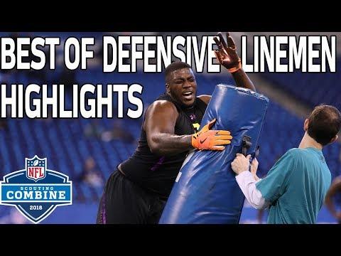 Best of Defensive Linemen Workouts!   NFL Combine Highlights