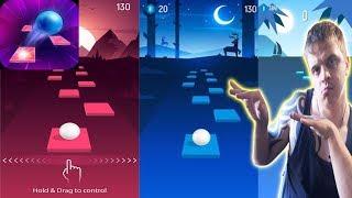 ТАНЦУЕМ И ИГРАЕМ #2 ► Tiles Hop ►Обзор,Первый взгляд,Геймплей,Gameplay