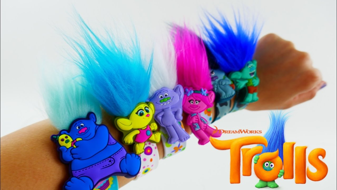 Dreamworks TROLLS Movie Slapbands Toys - Poppy Branch Guy Diamond and more | Evies Toy House