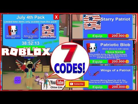 Roblox Mining Simulator Gameplay July 4th Pack 7 New Codes